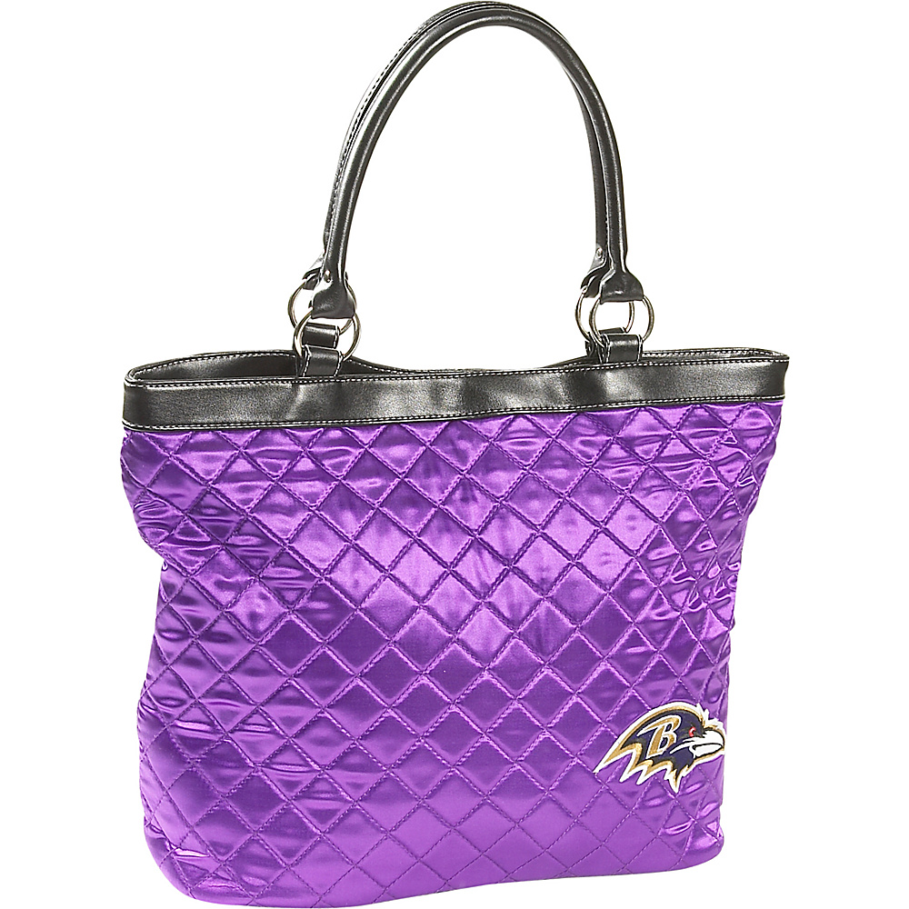 Littlearth Quilted Tote - Baltimore Ravens Baltimore Ravens - Littlearth Fabric Handbags