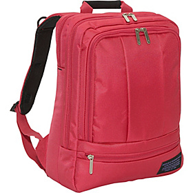 Impulse at Fashion Place 14.1'' Double Laptop Backpack Scarlet
