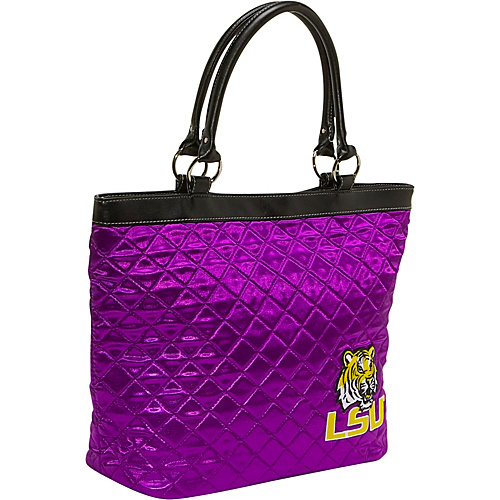 Littlearth Quilted Tote -Louisiana State University Louisiana State University - Littlearth Fabric Handbags