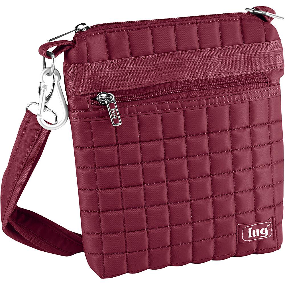 Lug Skipper Shoulder Pouch Cranberry Red Lug Fabric Handbags