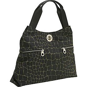 Milano Tote Silver Hardware Animal Prints Giraffe