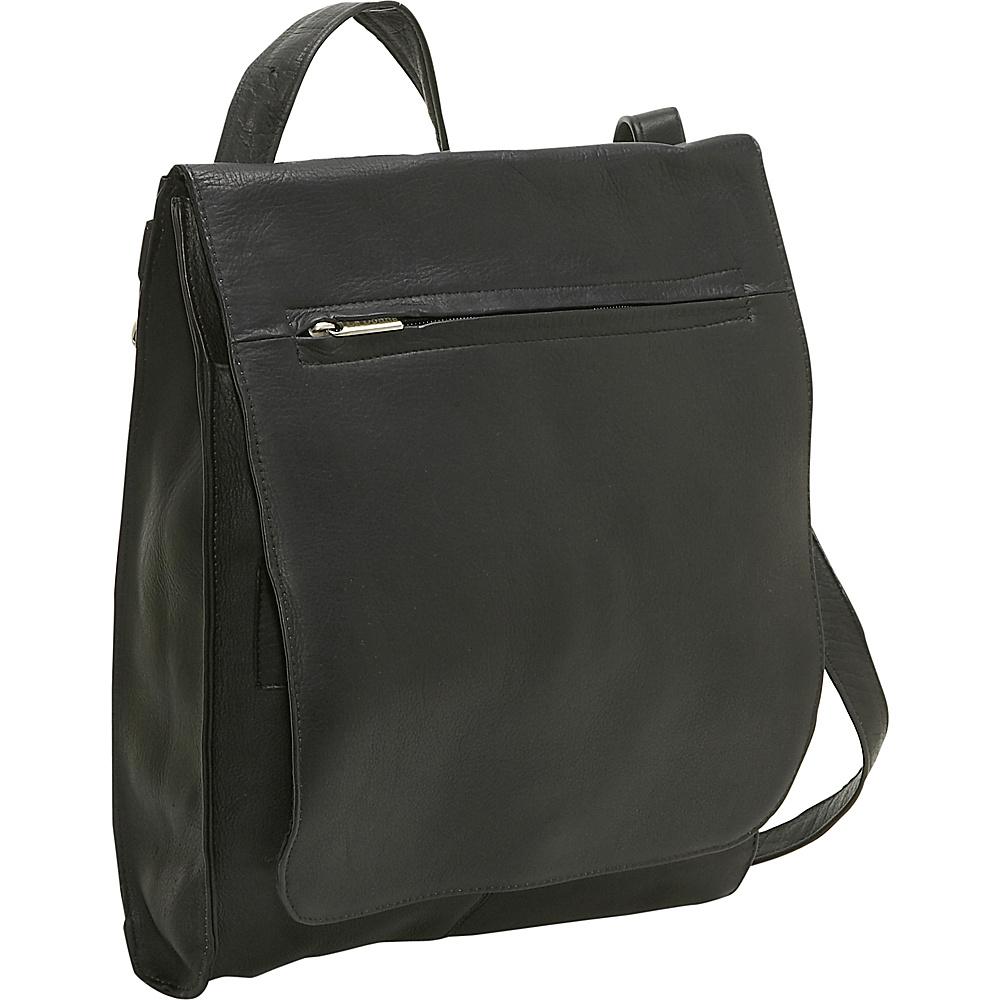 Le Donne Leather Organizer Shoulder Bag/Back Pack - Handbags, Leather Handbags
