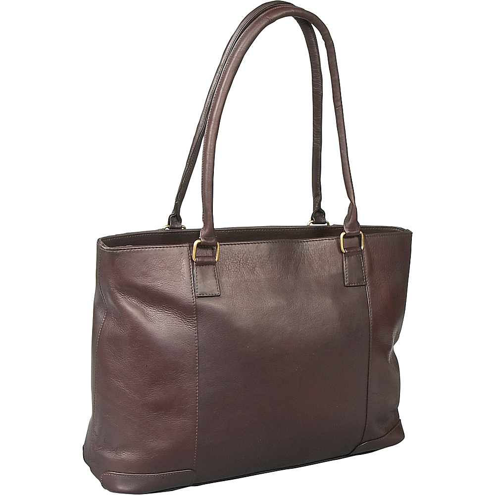 Le Donne Leather Womens Laptop Tote - Caf - Work Bags & Briefcases, Women's Business Bags
