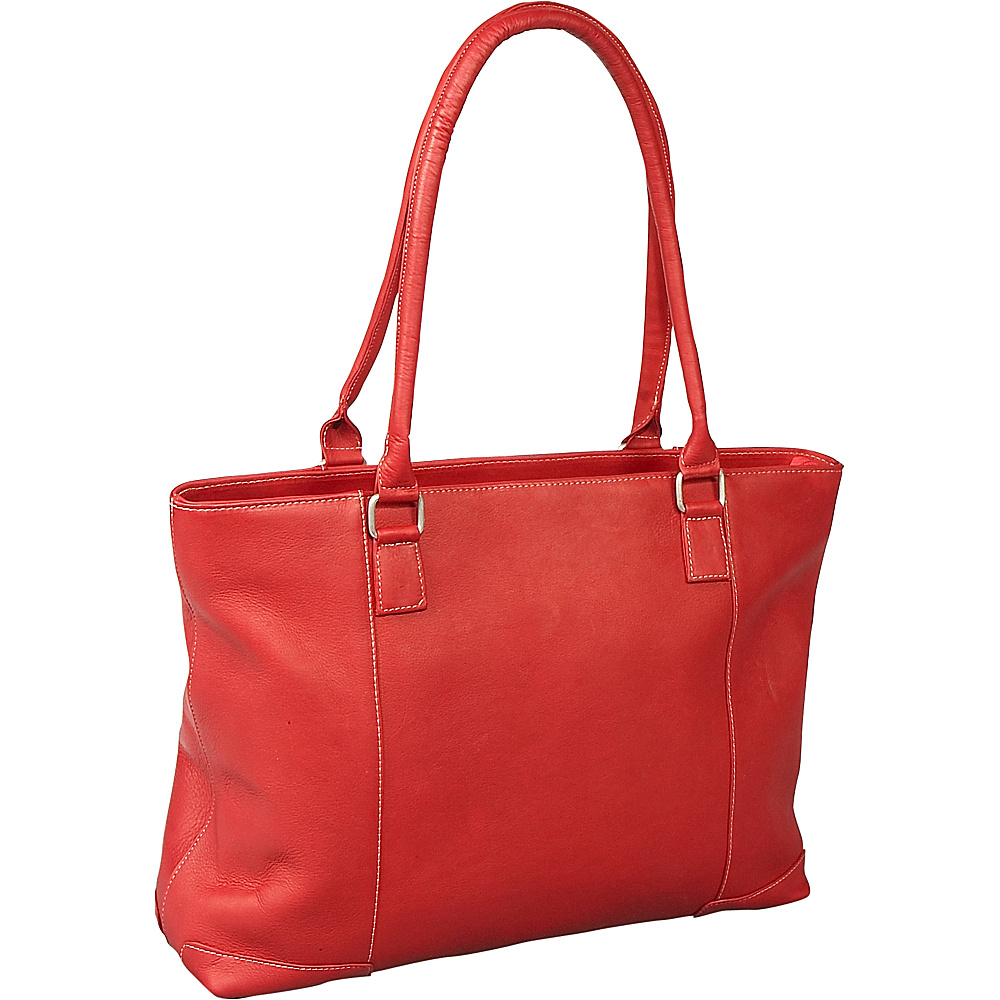 Le Donne Leather Womens Laptop Tote - Red - Work Bags & Briefcases, Women's Business Bags