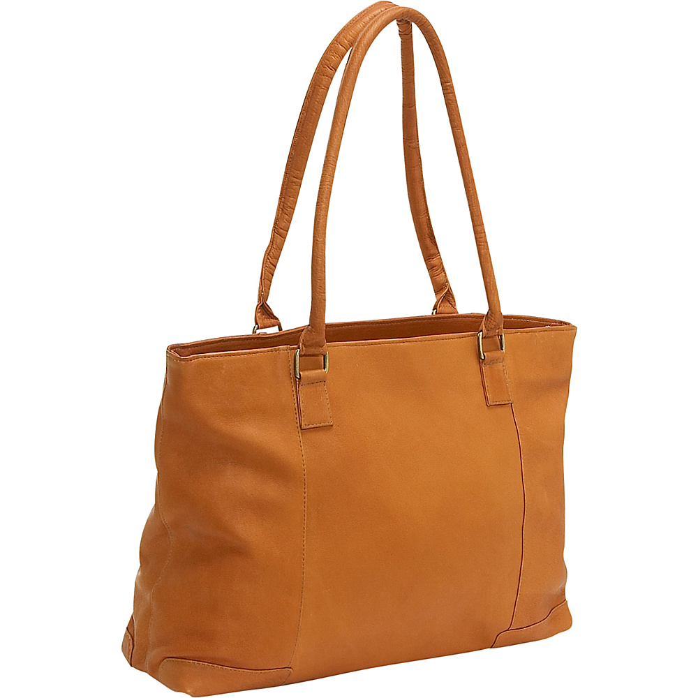 Le Donne Leather Womens Laptop Tote - Tan - Work Bags & Briefcases, Women's Business Bags