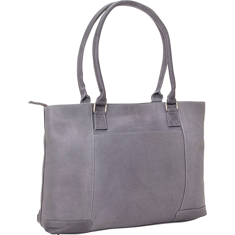 Le Donne Leather Womens Laptop Tote Gray - Le Donne Leather Womens Business Bags - Work Bags & Briefcases, Women's Business Bags