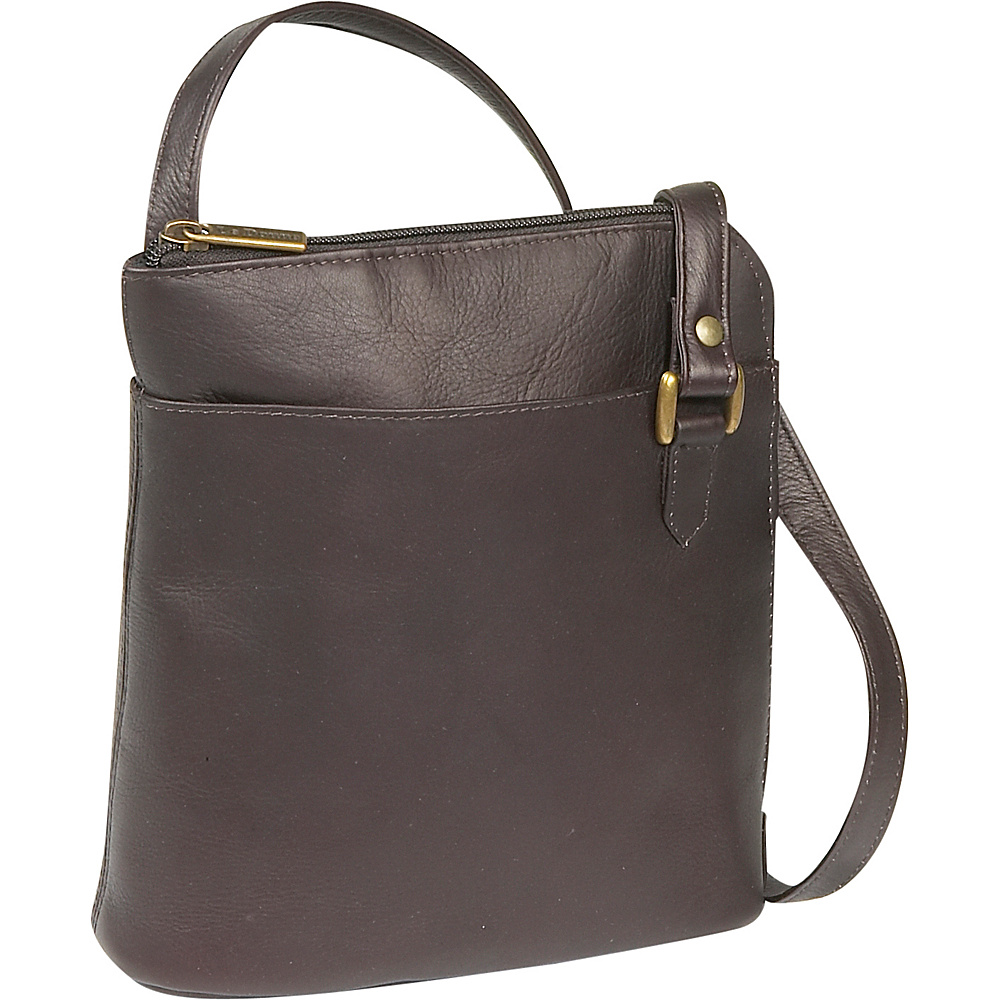Le Donne Leather L-Zip Shoulder Bag - Caf - Handbags, Leather Handbags