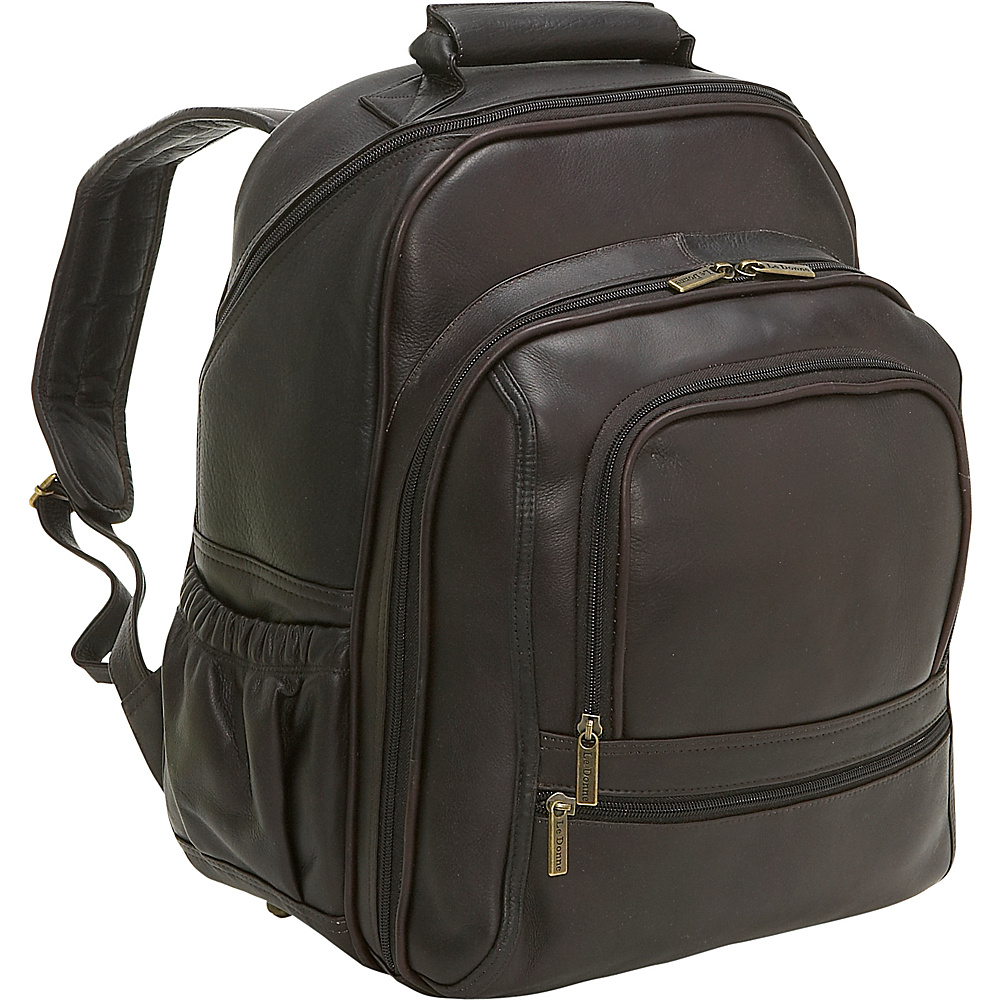 Le Donne Leather Computer Back Pack - Caf - Backpacks, Business & Laptop Backpacks