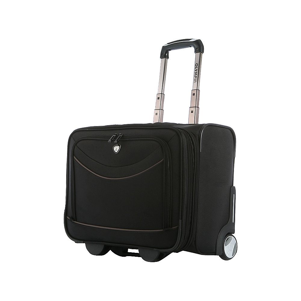 Olympia Deluxe Rolling Overnighter - Black - Luggage, Softside Carry-On