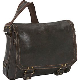 East West Laptop Messenger Chocolate