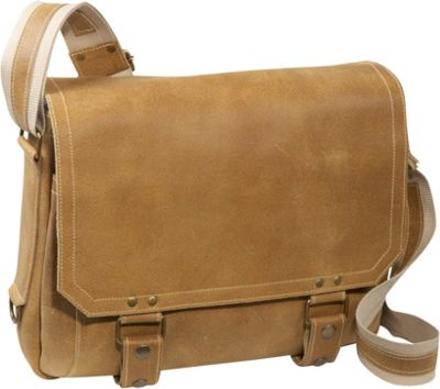 David King & Co. East West Laptop Messenger Distressed Tan - David King & Co. Messenger Bags