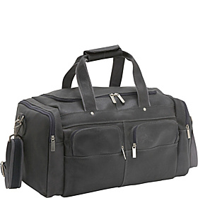 Distressed Leather Duffel Distressed Grey