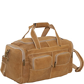 Distressed Leather Duffel Distressed Tan