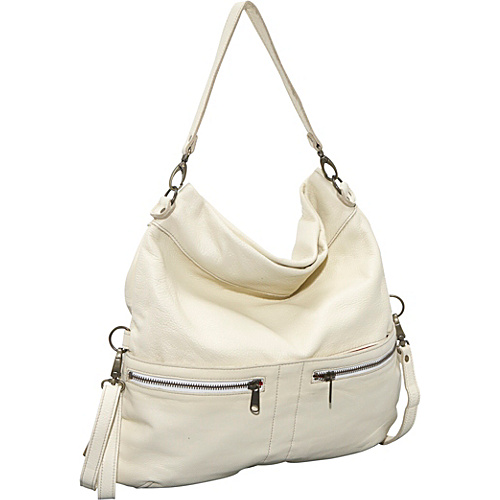 Brynn Capella Lauren Crossbody Fold Over Bag - Sail