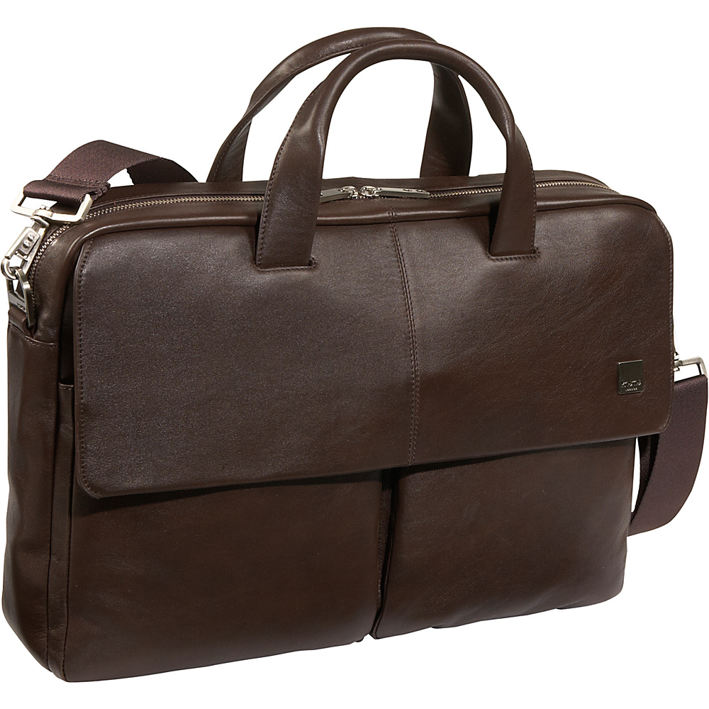 Knomo Dundee 17 Laptop Brief - Brown - Work Bags & Briefcases, Non-Wheeled Business Cases