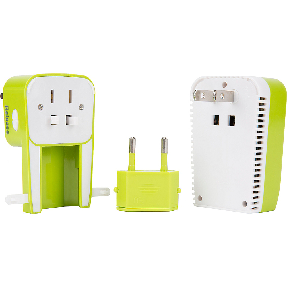 Travelon Universal 3-in-1 Adapter  Converter & USB Charger Lime - Travelon Electronic Accessories - Technology, Electronic Accessories
