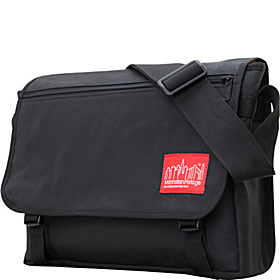 Waxed Canvas Europa Messenger Bag Black