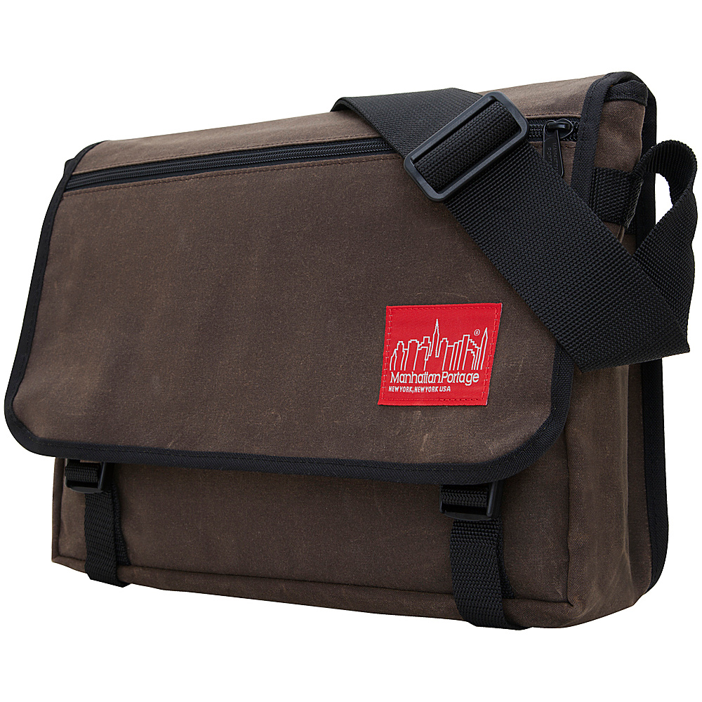 Manhattan Portage Waxed Canvas Europa Messenger Bag Dark Brown - Manhattan Portage Messenger Bags - Work Bags & Briefcases, Messenger Bags