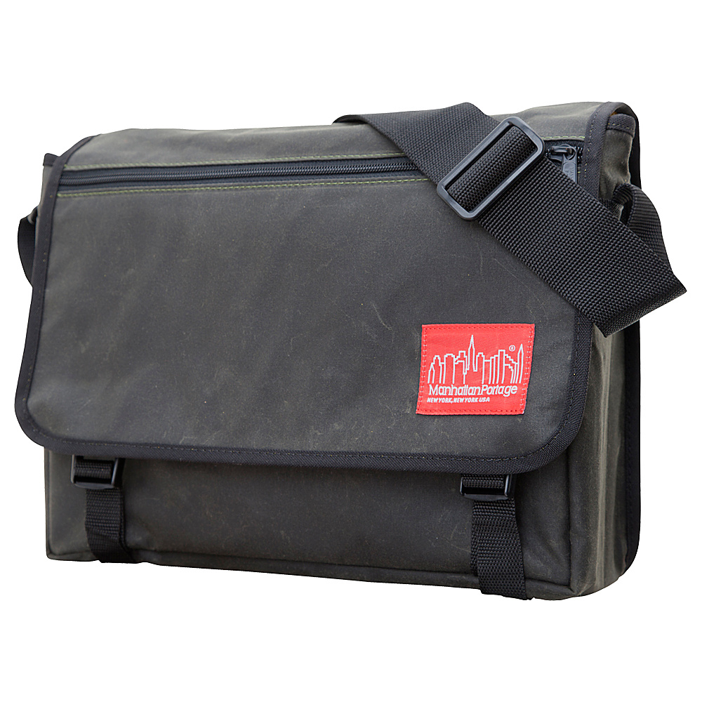 Manhattan Portage Waxed Canvas Europa Messenger Bag Olive - Manhattan Portage Messenger Bags - Work Bags & Briefcases, Messenger Bags