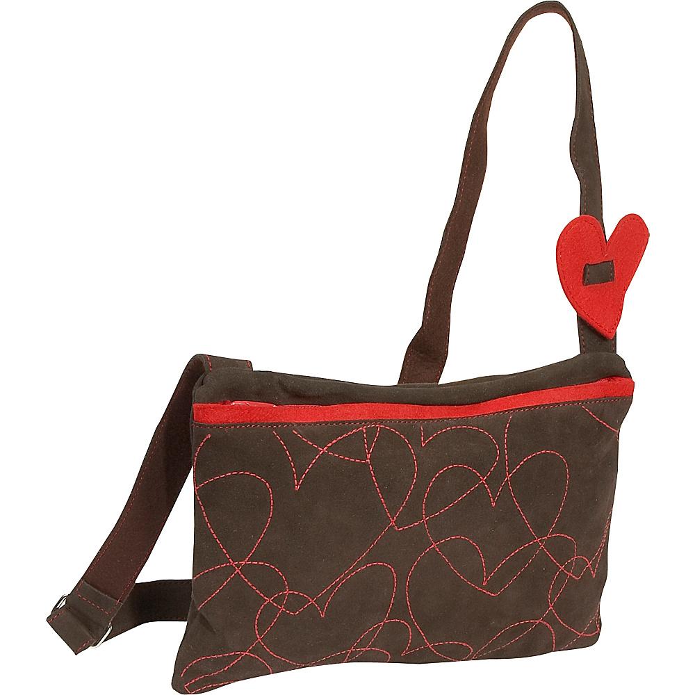 Miquelrius Agatha Ruiz De La Prada Hearts Suede Med Shoulder Bag