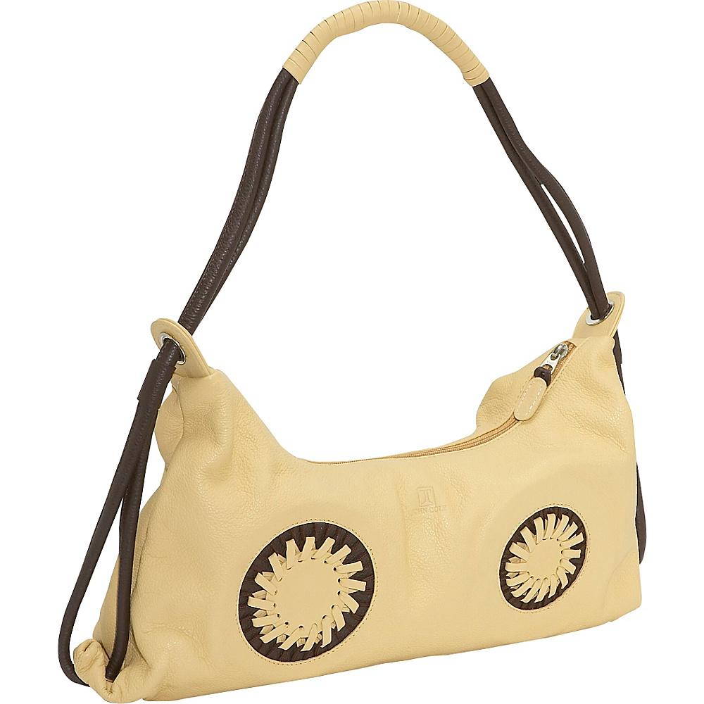 John Cole Theresa - Crme/Chocolate - Handbags, Leather Handbags