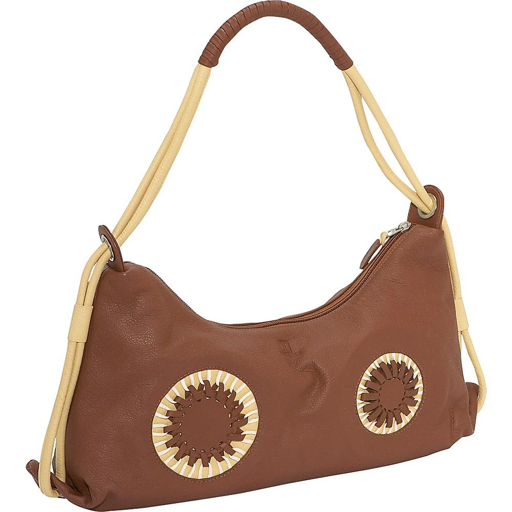 John Cole Theresa - Earth/Crme - Handbags, Leather Handbags