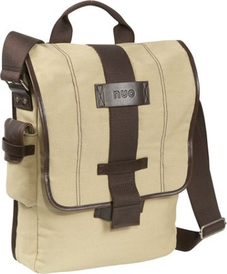 Nuo Eco-Friendly Vertical Laptop Messenger Tan - Nuo Messenger Bags