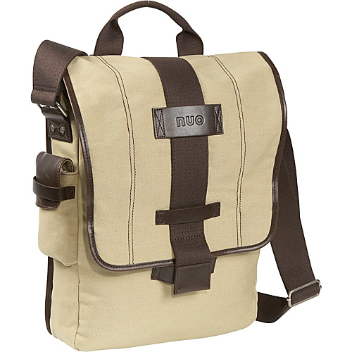 Nuo Eco-Friendly Vertical Laptop Messenger Tan - Nuo Women's Messenger Bags