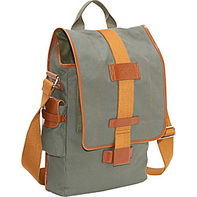 Eco-Friendly Vertical Laptop Messenger Green