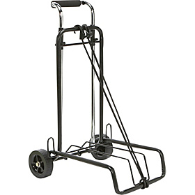 Folding Luggage Cart Silver