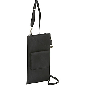 Cross-Body Travel Wallet Black