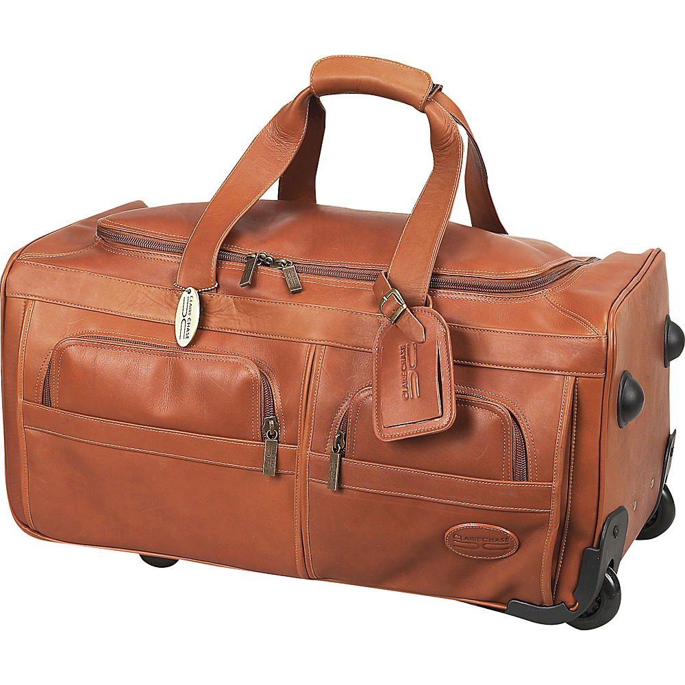 ClaireChase Rolling Duffel - Saddle - Luggage, Softside Carry-On