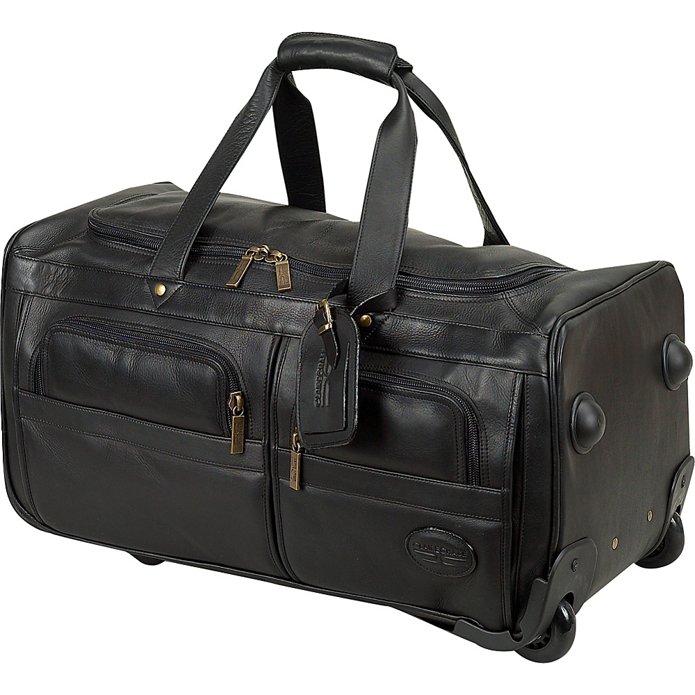 ClaireChase Rolling Duffel - Black - Luggage, Softside Carry-On