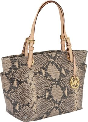 MICHAEL Michael Kors Jet Set Python Top Zip Tote