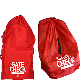 Gate Check Bags for Standard/Double Strollers and Car Seats Red