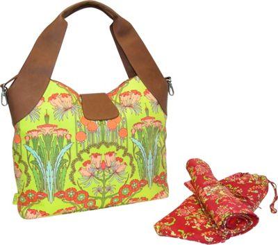 Amy Butler for Kalencom Wildflower Diaper Bag - Fuschia