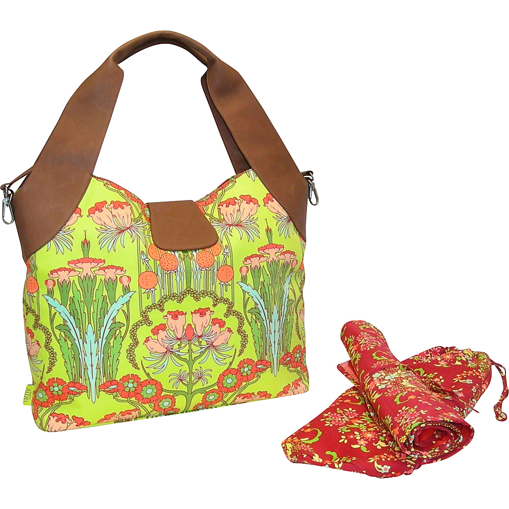 Amy Butler for Kalencom Wildflower Diaper Bag Fuschia