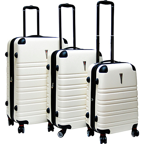 CalPak Modesto 3 Piece Hardside Spinner Set Milky - CalPak Hardside Luggage
