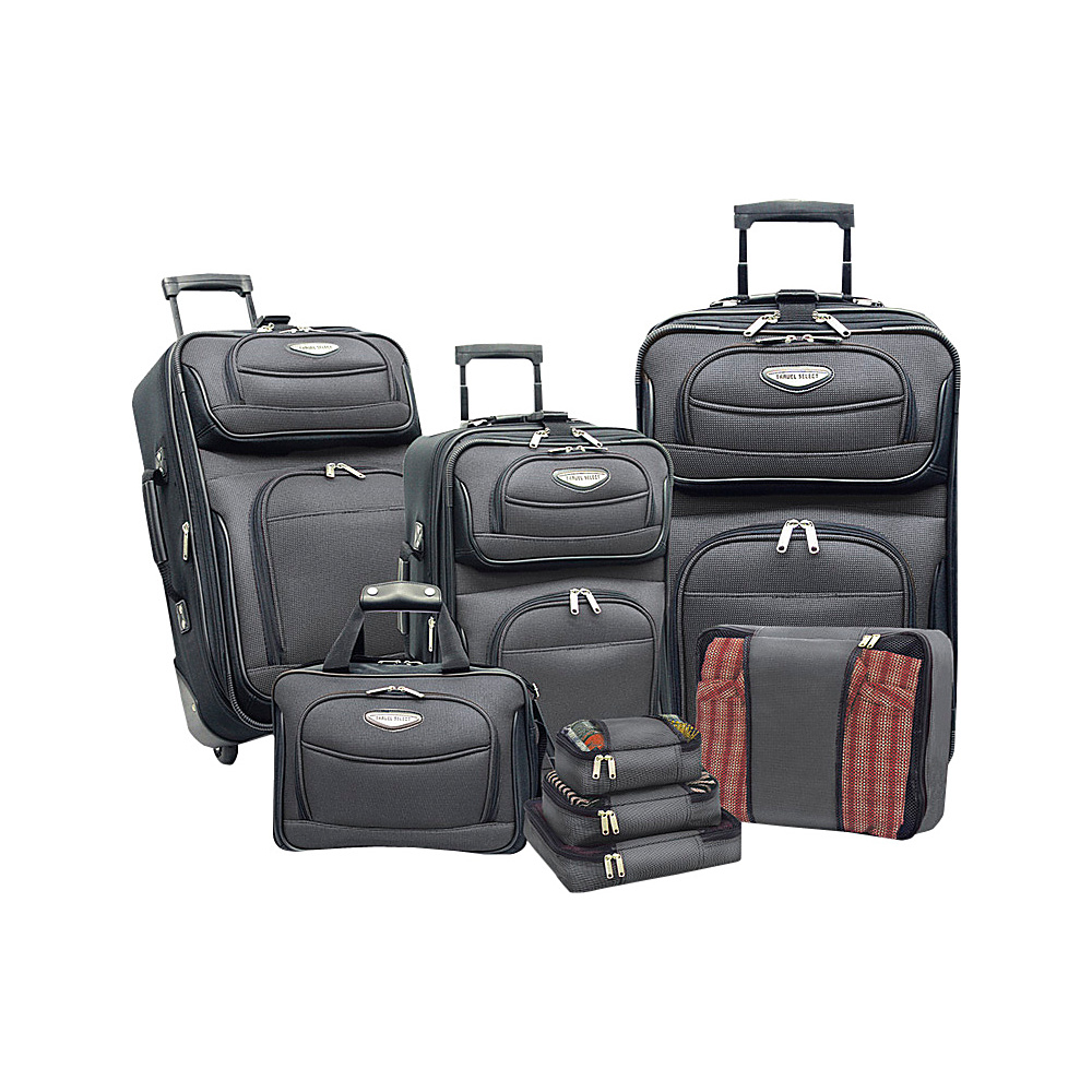 Traveler s Choice Amsterdam 8 piece Luggage Set Gray Traveler s Choice Luggage Sets