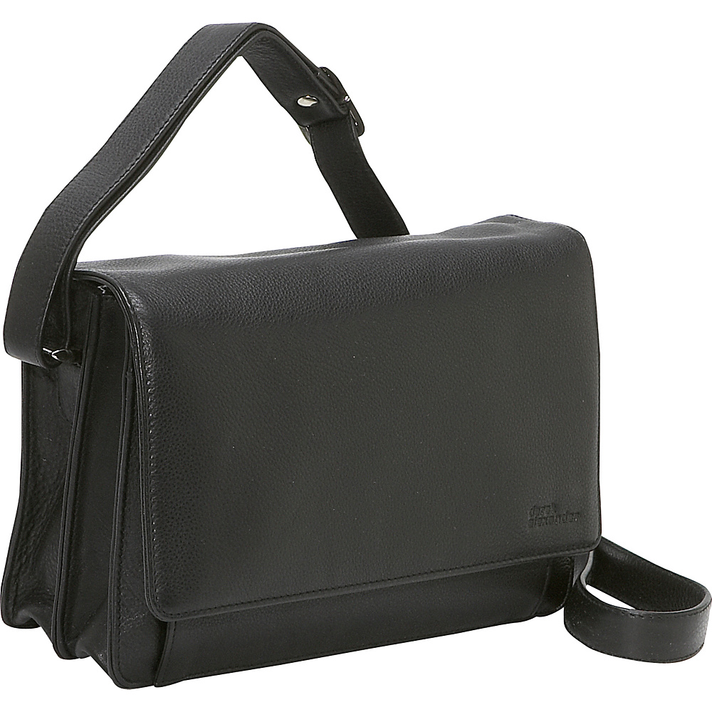 Derek Alexander 3/4 Flap Medium Organizer - Black - Handbags, Leather Handbags