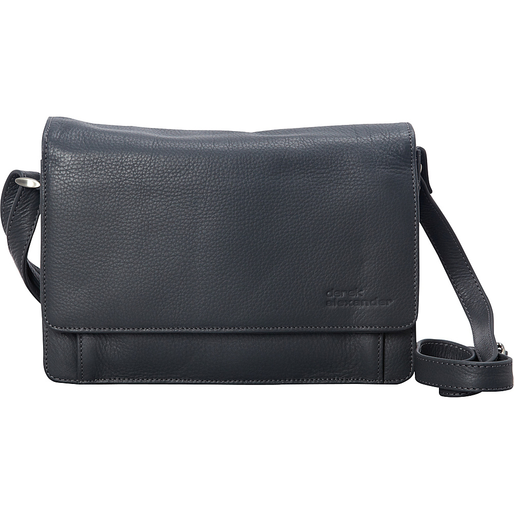 Derek Alexander 3/4 Flap Medium Organizer Grey - Derek Alexander Leather Handbags - Handbags, Leather Handbags