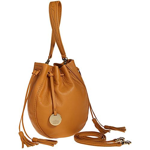 Alla Leather Art Sharlet Bucket Bag - Caramel