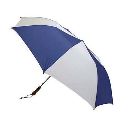 ShedRain ShedRain Jumbo Auto Umbrella -Wood Handle - White/Royal