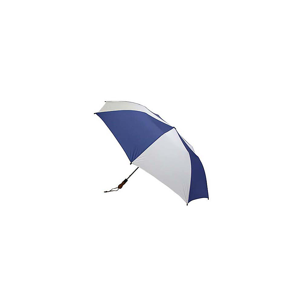 ShedRain Jumbo Auto Umbrella -Wood Handle - White/Royal - Travel Accessories, Umbrellas and Rain Gear