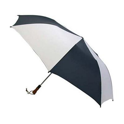 ShedRain ShedRain Jumbo Auto Umbrella -Wood Handle - White/Navy