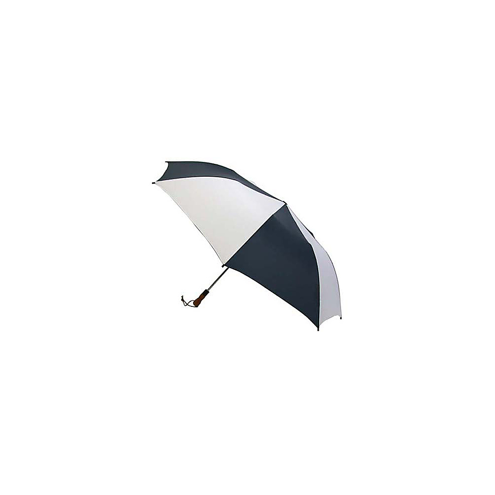 ShedRain Jumbo Auto Umbrella -Wood Handle - White/Navy - Travel Accessories, Umbrellas and Rain Gear