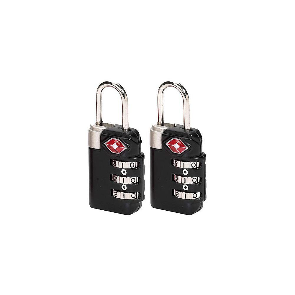 Lewis N. Clark TSA 3-dial Combo Lock/2 pack - Black