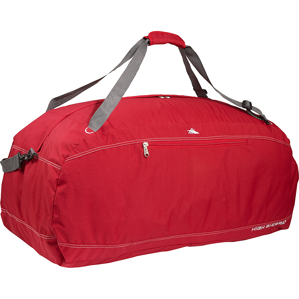 High Sierra Pack-N-Go 36 Duffel - CarmineRed - Duffels, Outdoor Duffels