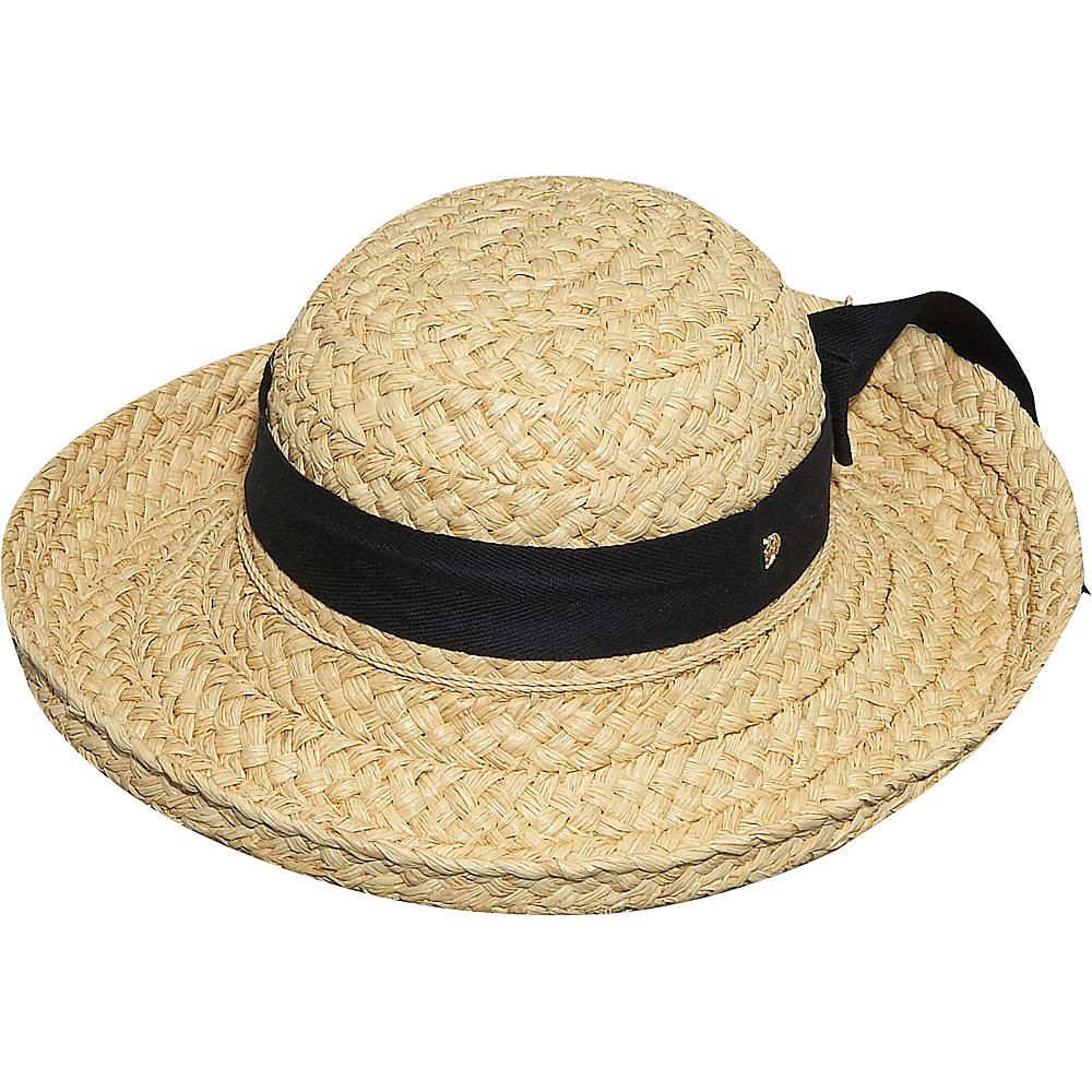 Helen Kaminski Classic 5 One Size - Natural/Black - Helen Kaminski Hats/Gloves/Scarves - Fashion Accessories, Hats/Gloves/Scarves