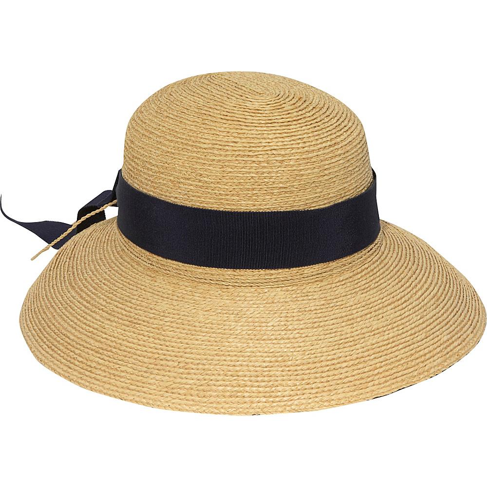 Helen Kaminski Newport Standard One Size - Natural/Midnight Ribbon - Helen Kaminski Hats/Gloves/Scarves - Fashion Accessories, Hats/Gloves/Scarves